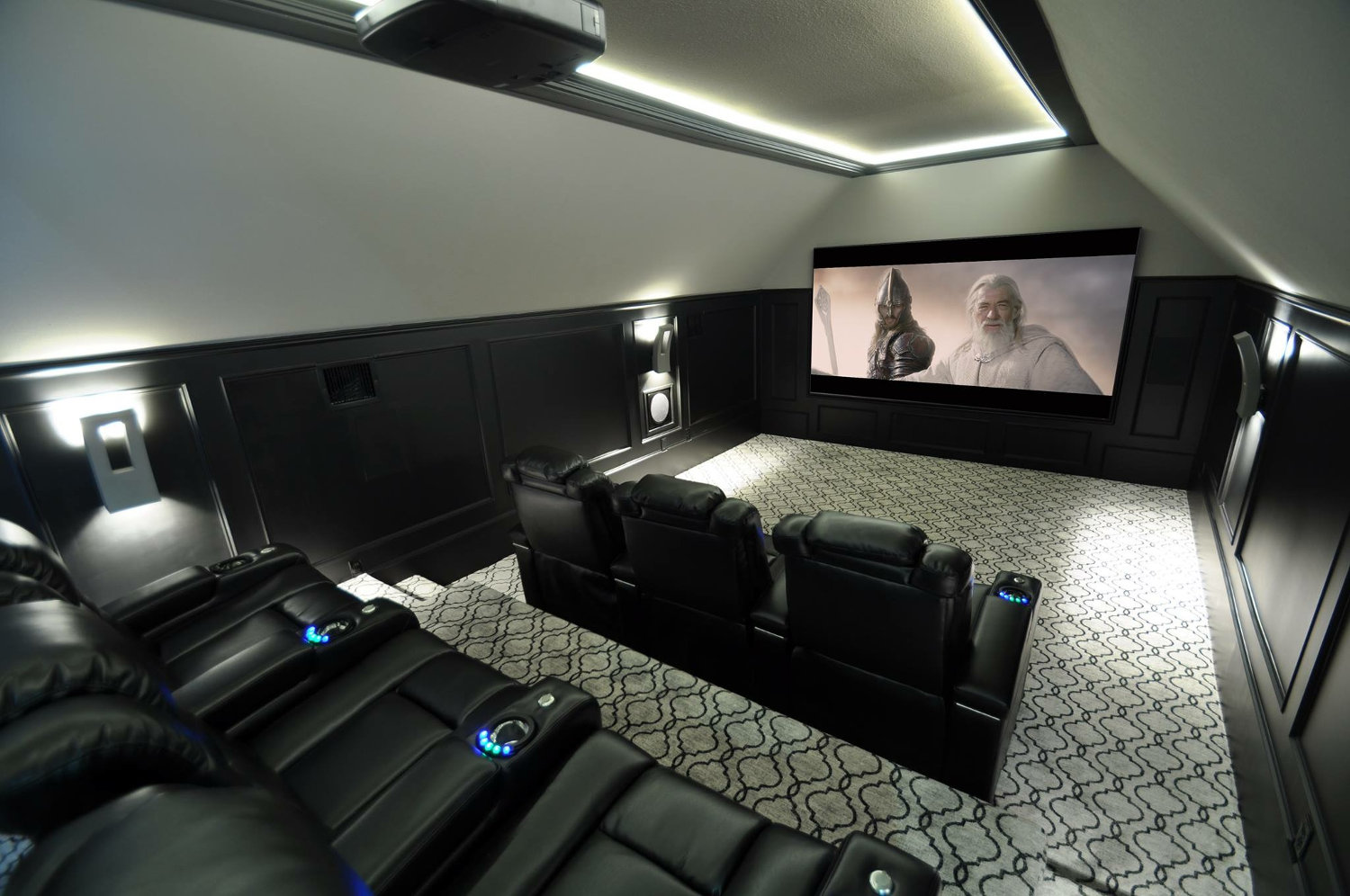 Awesome A Home Theater Designer Is As On Trend With The Furnishings And Color Scheme